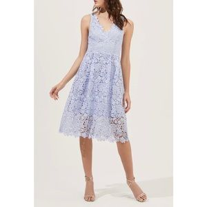 NEW ASTR the Label V-Neck Lace Fit & Flare Dress